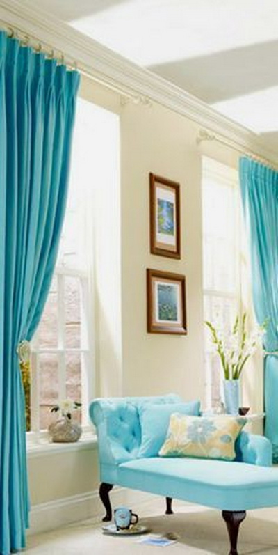 ผ้าม่าน turquoise